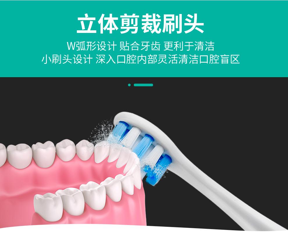 麦喆MAYZE EB001智能声波电动牙刷套装含6个刷头(图10)